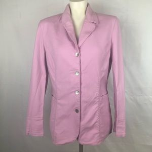 J Jill Pastel Blazer with Mother of Pearl Buttons